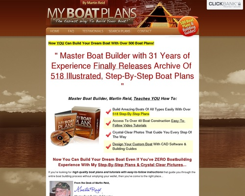 How To Build a Boat - Over 500 Boat Design